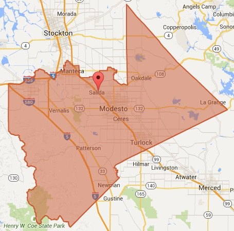 Congressman Jeff Denham's District