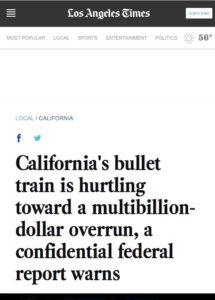 California's bullet train is hurtling toward a multibillion-dollar overrun